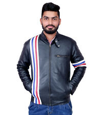 V4M Men's EASY RIDER GENUINE LEATHER JACKET( 100% GENUINE  LEATHER)