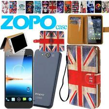 New Flip Folio Stand Card Wallet Leather Cover Case For Various Zopo Smartphones