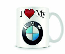 Christmas Stocking Filler Ideal Gift I Love My BMW/BMW Logo Printed Mug-2 Design