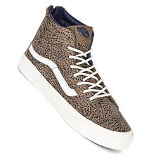 Vans Schuhe Sk8 Hi Slim Zip (Cheetah Suede) Black/Tan - Damen Fashion Sneaker
