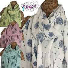 DANDELION SCARF LADIES SCARF WITH DANDELIONS DESIGN SUPERB QUALITY IN 4 COLOURS