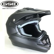 GSB Casco MOTOCROSS Scooter Quad Casco Cross ATV Fuoristrada Enduro Corsa, Opaco