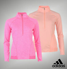 Ladies Genuine Adidas Half Zip Advance Deco Golf Jacket Top Size 8 10 12 14 16
