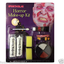 Halloween Zombie Horror Make up Kit With Liquid Latex Face Paint Fancy Dress