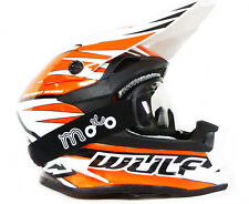 WULF Advance Casco moto Quad scooter motocross Casco da corsa ATV con occhiali