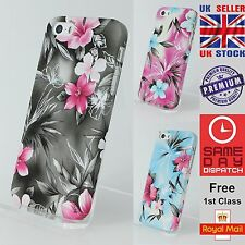 Beauty Fashion Colourful Floral Pattern Hard Case Cover For Apple iPhone 5/5s/SE