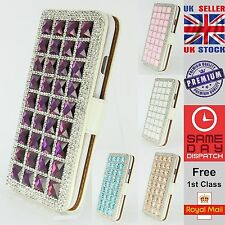 Luxury Bling Crystal Diamond Wallet Leather Case Cover For Apple iPhone 6 6Plus