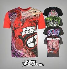 New Mens Branded No Fear Cotton Short Sleeves Moto Graphic T Shirt Size S-XXL