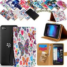 Folio Stand Card Wallet Leather Cover Case For Various BlackBerry SmartPhones