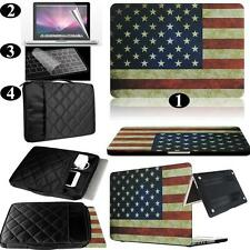 USA Flag Rubberized Hard Case Carrying Bag Keyboard Cover For Apple Macbook