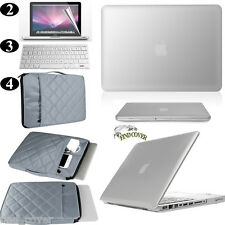 Silver  Rubberized Hard Case Carrying Bag Keyboard Cover For Apple Macbook