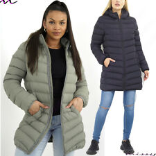 WOMENS Ladies PUFFER Quilted Hooded Parka Winter Jacket FAUX FUR Coat SIZE 8-16