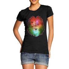 Women's Galaxy Lion Head Organic Cotton T-Shirt