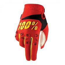 100% Airmatic Gloves Red - Mountain Bike Enduro Trail MTB Full Finger Cycling
