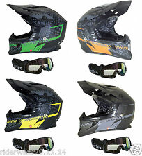 RS-X99 CASCO MOTOCROSS OFF ROAD QUAD CASCO MOTO CORSA ENDURO SCOOTER MX OCCHIALI