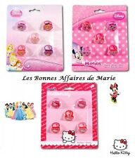 DISNEY - HELLO KITTY - PROMO jusqu'à -60% - Lot de 5 bagues Princess, Minnie...