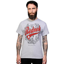 Toxico Clothing Rednek Script T-Shirt hotrod top Lucky 13 tattoo biker t`shirt