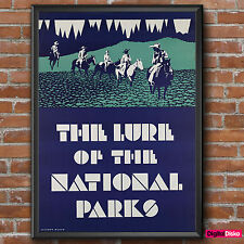 USA The Lure of the National Parks Vintage Poster Print -A3/A4 FREE UK P&P