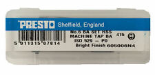 Presto UK 6BA Taps and Dies HSS First, second, plug / Direct from RDGTools