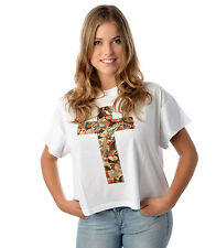Eleven Paris CROPAPI Damen T-Shirt weiss