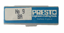 Presto UK 9BA Taps and Dies HSS First, second, plug / Direct from RDGTools