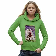 Twisted Envy Women's Scary Giggles Mc Clown Organic Cotton Hoodie