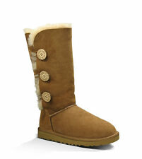 UGG Australia Women's  Bailey Button Triplet Boot Chestnut 1873