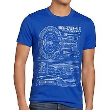 NCC-1701-D T-Shirt trek trekkie star raumschiff next enterprise generation space