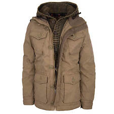 Khujo Mike Winterjacke light bronze - Herren Jacke mit Strick Einsatz