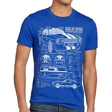 Blaupause GT 500 T-Shirt mustang muscle car motor ford auto us shelby sportwagen