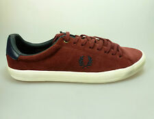 Fred Perry Howells Sneaker Unlined Suede maroon navy B3264-106 Turnschuhe rot