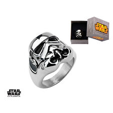 Disney Officially Licensed Stainless Steel 3D Star Wars Stormtrooper Ring
