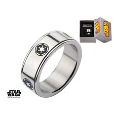 Stainless Steel Star Wars Galactic Empire Spinner Ring - 100% Authentic