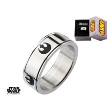 Disney Stainless Steel Star Wars Rebel Alliance Symbol Spinner Ring - Stainless