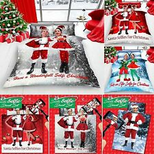 Christmas Festive Quilt Cover Bed Set With Pillow Case  ets,or With Fitted Sheet
