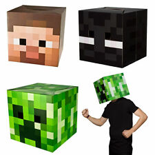 MINECRAFT BOX HEADS fancy dress costume party enderman creeper steve cardboard