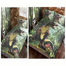 T REX DINOSAUR JURASSIC JUNGLE BEDROOM RANGE SINGLE, DOUBLE & CURTAINS AVAILABLE