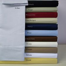 Super Soft & Wrinkle Free Twin-Size 100% Microfiber Solid Sheet Sets - 95GSM