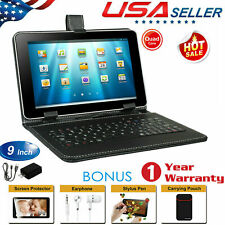 """9"""" Android 4.4 KitKat Quad Core Tablet A7 8GB Dual Camera WiFi Bundled Keyboard"""