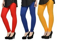Cotton Lycra Legging Combo Of 3 - Red,Blue,Yellow (LMID43)