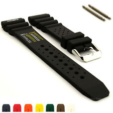 N.D. Limits Silicone Rubber Waterproof Divers Watch Strap Band PRO 18 20 22 24mm