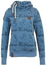 Naketano Damen Kapuzenpullover Darth im Spessart V  Light Blue Melange