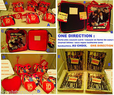 ONE DIRECTION : Porte-Clés/ Journal Intime/ Sac Repas Isotherme/ Coussin Coeur