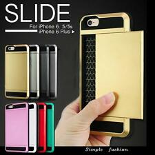 Card pocket Hard Back Wallet Bumper case cover for Apple iPhone & Samsung Galaxy