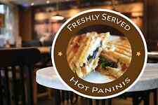 Paninis Shop Window Sign Restaurant  Catering Cafe Stickers Self Cling Decal