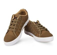 Unistar Brown Coloured Canvas Shoes(5002-Brn)