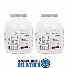 PHD DIET WHEY 2 X 2KG / 2000G = 4KG / 4000G ALL / MIXED FLAVOURS HIGH PROTEIN