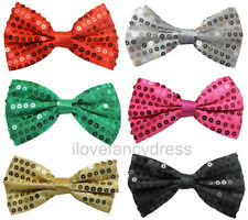 6 X SEQUIN BOW TIE DANCE SHOW THEATRE PRODUCTION SEQUINED DICKY BOW 6 COLOURS