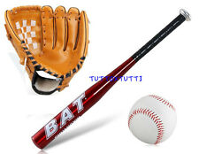 "Set Baseball mazza in Lega di Alluminio""25""pollice + Palla softball + guantone"