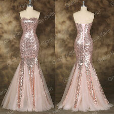 2016 Women Mermaid Long Bridal Wedding Party Prom Gown Evening Quinceanera Dress